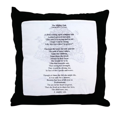 The Mighty Oak Throw Pillow