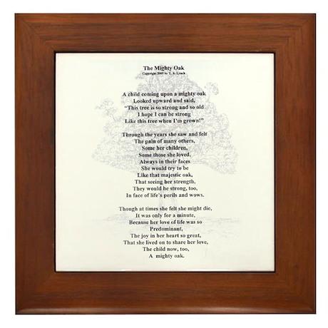 The Mighty Oak Framed Tile