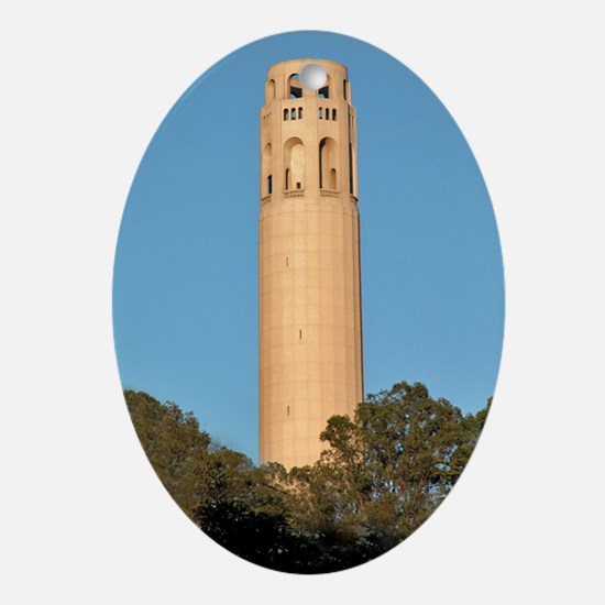 Coit Tower, SF - Holiday Ornament Oval