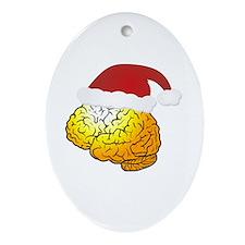 Santa Brain Oval Ornament