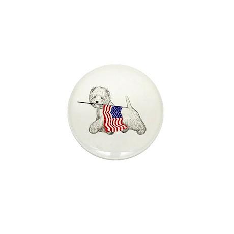 Patriotic Westie Mini Button (10 pack)