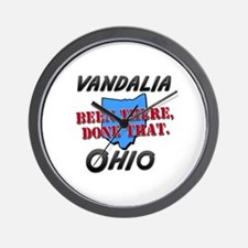 vandalia ohio - been there, done that Wall Clock