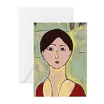 Girl's Face After Matisse Cards (Pk of 20)