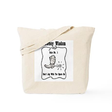 """""""Cowboy Wisdom"""" Tote Bag"""