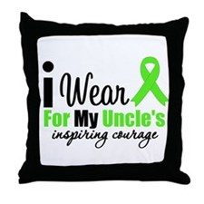 Lymphoma Courage Uncle Throw Pillow