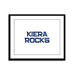 kiera rocks Framed Panel Print