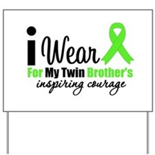 LymphomaCourageTwinBrother Yard Sign