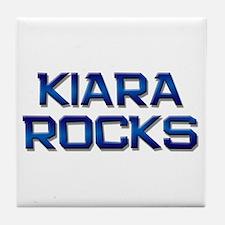 kiara rocks Tile Coaster