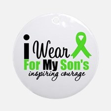 Lymphoma Courage Son Ornament (Round)