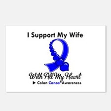 ColonCancerHeart Wife Postcards (Package of 8)