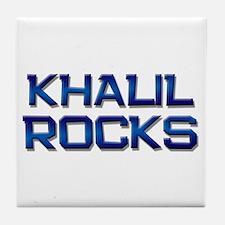 khalil rocks Tile Coaster