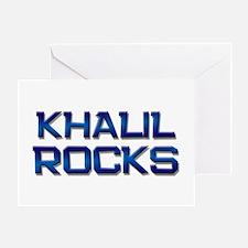 khalil rocks Greeting Card