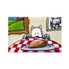 Holiday Westie Rectangle Magnet