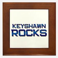 keyshawn rocks Framed Tile