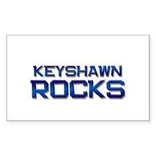 keyshawn rocks Rectangle Decal