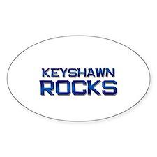 keyshawn rocks Oval Decal