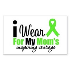 Lymphoma Courage Mom Rectangle Decal