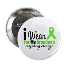 """Lymphoma Courage Grandpa 2.25"""" Button (100 pack)"""