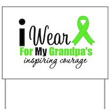 Lymphoma Courage Grandpa Yard Sign