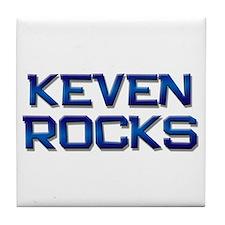 keven rocks Tile Coaster