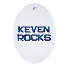 keven rocks Oval Ornament