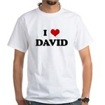 I Love DAVID White T-Shirt
