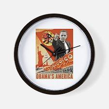 communist obama Wall Clock