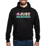 Just Married Hoodie (dark)