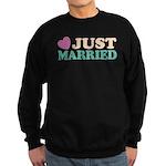Just Married Sweatshirt (dark)