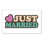 Just Married Rectangle Sticker 10 pk)