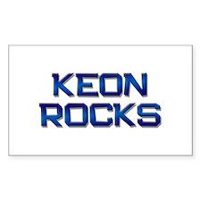 keon rocks Rectangle Decal