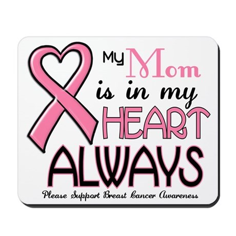 In My Heart 2 (Mom) PINK Mousepad