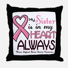 In My Heart 2 (Sister) PINK Throw Pillow