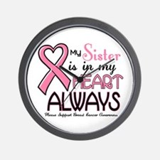 In My Heart 2 (Sister) PINK Wall Clock