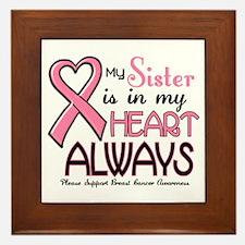 In My Heart 2 (Sister) PINK Framed Tile