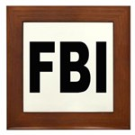 FBI Federal Bureau of Investigation Framed Tile