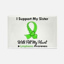 Lymphoma Support Sister Rectangle Magnet