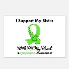 Lymphoma Support Sister Postcards (Package of 8)