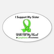 Lymphoma Support Sister Oval Decal
