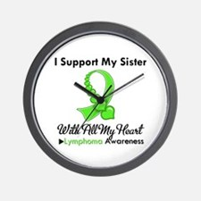 Lymphoma Support Sister Wall Clock