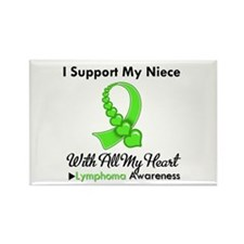 Lymphoma Support Niece Rectangle Magnet