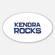 kendra rocks Oval Decal