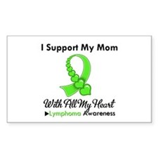 Lymphoma Support Mom Rectangle Decal