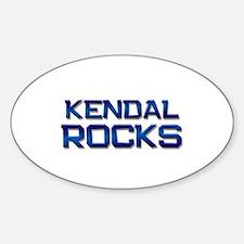 kendal rocks Oval Decal