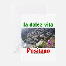 la dolce vita Positano Greeting Cards (Package of