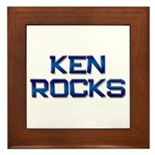 ken rocks Framed Tile