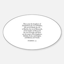 NUMBERS 27:1 Oval Decal