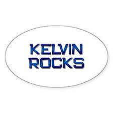 kelvin rocks Oval Decal