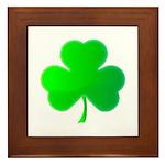 Bright Green Shamrock Framed Tile