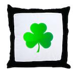 Bright Green Shamrock Throw Pillow